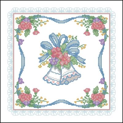 Dimensions 00156 Wedding Bells Pillow